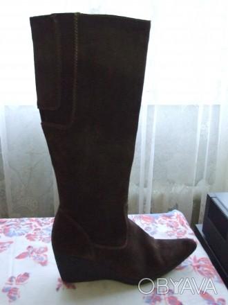 Четыре пары женских сапог. Натуральная кожа. Состояние новое или два раза одевал. Сумы, Сумская область. фото 1