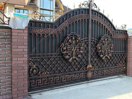Ковані ворота. Надворная. фото 1