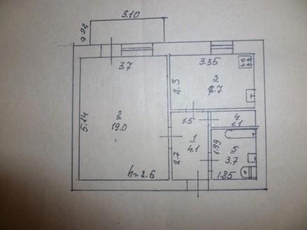 однокомнатная квартира+ гараж. Купянск. фото 1