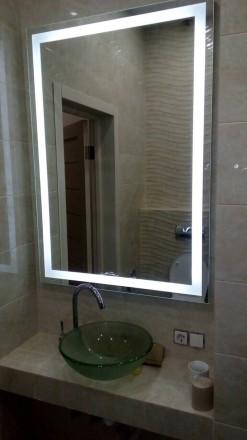 Зеркало с led подсветкой 120*80см. Киев. фото 1