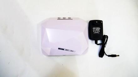 Ультрафиолетовая Led UV лампа 36 W с таймером для маникюра и педикюра  Кристалл. Чернигов, Черниговская область. фото 5