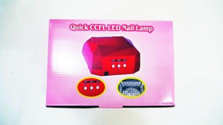 Ультрафиолетовая Led UV лампа 36 W с таймером для маникюра и педикюра  Кристалл. Чернигов, Черниговская область. фото 12