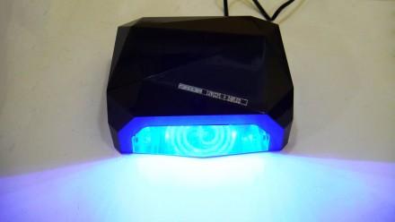 Ультрафиолетовая Led UV лампа 36 W с таймером для маникюра и педикюра  Кристалл. Чернигов, Черниговская область. фото 7