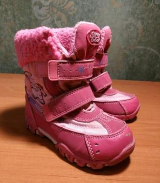 Розовые сноубутсы (зимние сапожки) для девочек Super Gear 26р.(15,5см). Сумы. фото 1