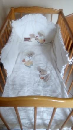 Набір в дитяче ліжечко Італія. Снятин. фото 1