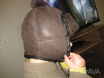 нова шапка на 2-3р шкіряна. Хмельницкий, Хмельницкая область. фото 1