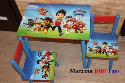 Детский стол и стул (столик) Щенячий патруль (100 рисунков). Київ. фото 1