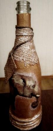 Бутылка сувенирная Слон. Чернигов. фото 1