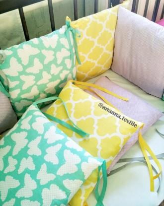Бортики защита для нестандартной кроватки. Сумы. фото 1