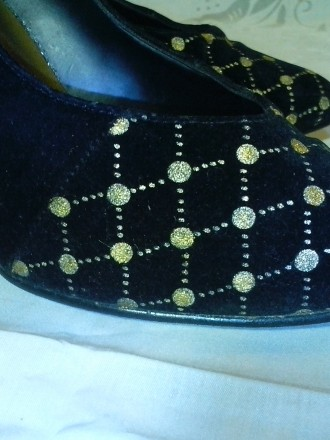Очень нарядные бархатные туфельки на тонкой шпильке 10 см. фирмы Vivo Ferre (Ита. Днепр, Днепропетровская область. фото 6