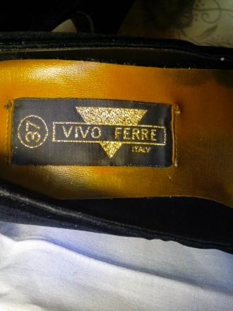 Очень нарядные бархатные туфельки на тонкой шпильке 10 см. фирмы Vivo Ferre (Ита. Днепр, Днепропетровская область. фото 7