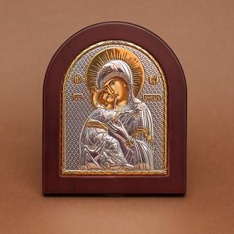 Греческая Икона,серебро, Лик Божией Матери. Харьков. фото 1