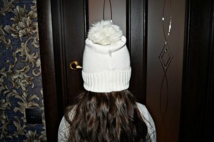 Очень красивая шапочка ТМ Jamiks для девочки. Цвет белый. 40% вискоза; 25% пол. Кропивницкий, Кировоградская область. фото 5