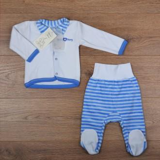 Велюровый теплый комплект для новорожденного кофта и ползунки - р.68-74. Киев. фото 1