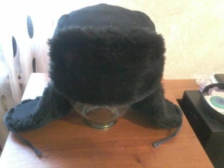 Рабочая утепленная шапка-ушанка,на штучном меху.(Размер:57-58)НОВАЯ.. Конотоп. фото 1