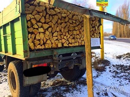 Доставим вам дрова граб, дуб, или акацию, рубаные в укладку (уложенные как на фо. Обухов, Киевская область. фото 1
