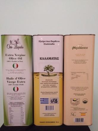 Оливковое масло первого холодного отжима из Греции, Италии, Испании в жестяной 5. Киев. фото 1