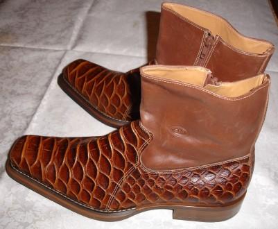 Сапоги/черевики 45 р., нові, шкіра, коричневі, демісезон, АМ company. Львов. фото 1