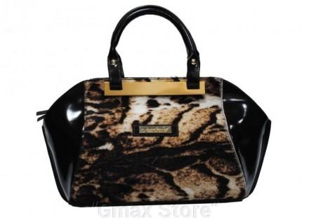 Жіноча сумка Massimo Cosentino із натур шліфованої шкіри та вставкою хутра  поні f0f5b46084921