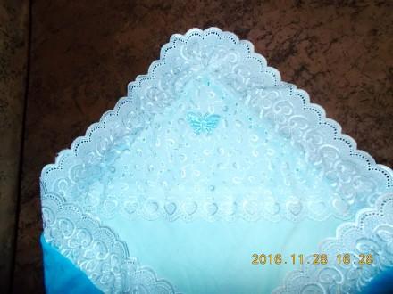 Конверт - одеяльце для выписки новорожденного  б\у в отличном состоянии, для  м. Київ, Киевская область. фото 3