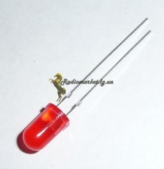 Светодиод красный 5мм. Шумское. фото 1
