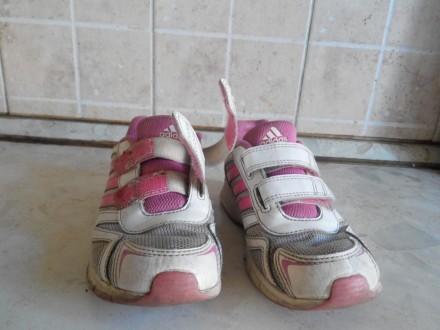 Продам фирменные кроссовки adidas для девочки.Размер 32.Длина стельки 19,5 см.Со. Славянск, Донецкая область. фото 3
