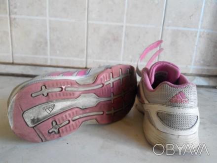 Продам фирменные кроссовки adidas для девочки.Размер 32.Длина стельки 19,5 см.Со. Славянск, Донецкая область. фото 1