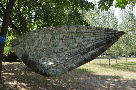 Легкий, компактный ветростойкий походный гамак. Вес полотна 270г, полный компле. Кривой Рог, Днепропетровская область. фото 7