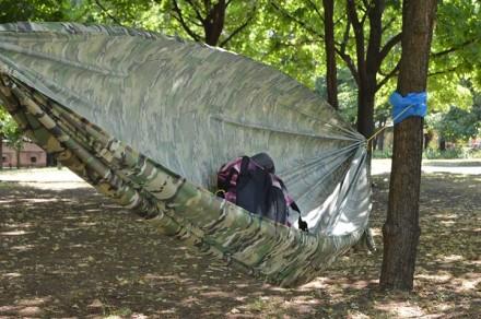 Легкий, компактный ветростойкий походный гамак. Вес полотна 270г, полный компле. Кривой Рог, Днепропетровская область. фото 4