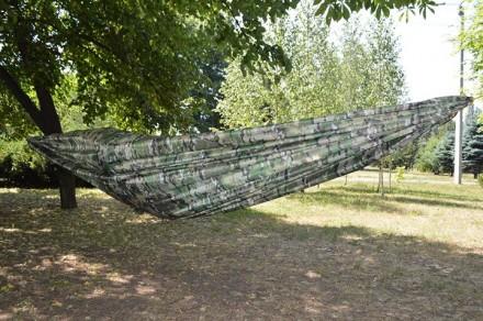 Легкий, компактный ветростойкий походный гамак. Вес полотна 270г, полный компле. Кривой Рог, Днепропетровская область. фото 5