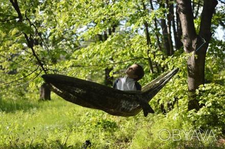 Легкий, компактный ветростойкий походный гамак. Вес полотна 270г, полный компле. Кривой Рог, Днепропетровская область. фото 1