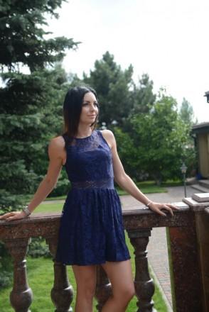 Ажурное синее платье forever 21. Киев. фото 1
