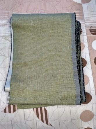 Продам обрезки тканей : 1. Ткань для штор, плотная, оливкового цвета, размер : . Киев, Киевская область. фото 3