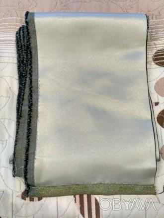 Продам обрезки тканей : 1. Ткань для штор, плотная, оливкового цвета, размер : . Киев, Киевская область. фото 1