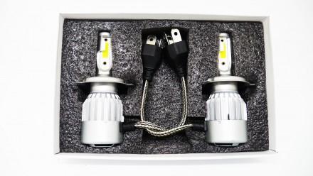 C2 Светодиодный БиКсенон H4 LED 36W 12V 3800K Светодиодные лампы головного свет. Чернигов, Черниговская область. фото 6