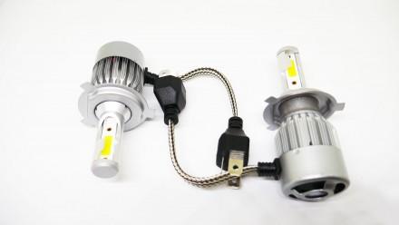 C2 Светодиодный БиКсенон H4 LED 36W 12V 3800K Светодиодные лампы головного свет. Чернигов, Черниговская область. фото 2