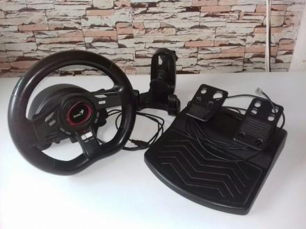 Продам игровой руль с педалями Genius SpeedWheel5 в отличном состоянии. Чаплинка. фото 1