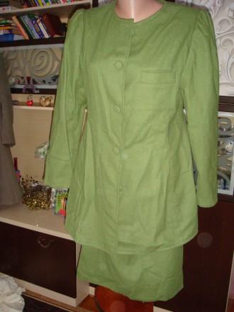 Костюм шерстяной зеленый.. Попільня. фото 1