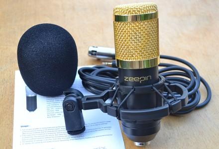 Студийный конденсаторный микрофон BM800 - черный. Каменец-Подольский. фото 1