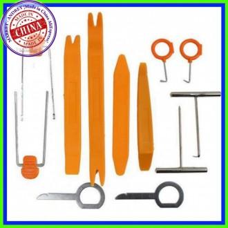 Набор инструментов для снятия обшивки и клипс 12шт. Кременчуг. фото 1