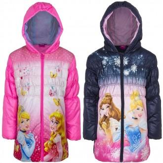 Демисезонная, удлиненная куртка, для девочки, Принцессы Диснея, Disney.. Винница. фото 1