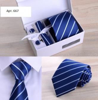 Бабочка галстук, галстук, зажим, платок Подарочный набор Большой выбор. Бровары. фото 1