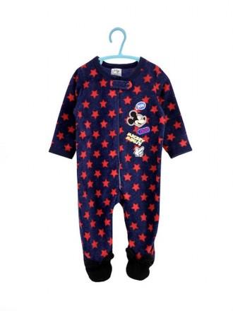 Флисовый, теплый человечек, слип, пижама для мальчика, mickey maus, disney.. Винница. фото 1