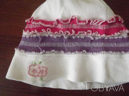 Очень яркая шапочка на девочку в идеальном состоянии. Размер 3-4 года.. Днепр, Днепропетровская область. фото 1