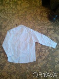 Рубашка белая для мальчика длина воротничка 32см, длина от горловины до плеча 10. Днепр, Днепропетровская область. фото 3