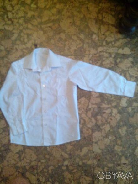 Рубашка белая для мальчика длина воротничка 32см, длина от горловины до плеча 10. Днепр, Днепропетровская область. фото 1