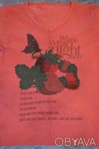 Продам легкий свитерок с V-образным вырезом, размер 42. Длина – 55,5 см, длина . Нежин, Черниговская область. фото 3