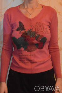 Продам легкий свитерок с V-образным вырезом, размер 42. Длина – 55,5 см, длина . Нежин, Черниговская область. фото 4
