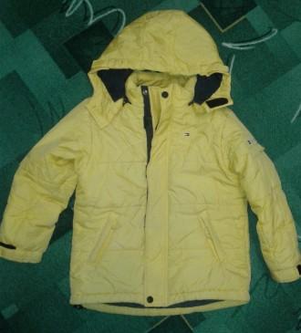 Тепла зимова куртка пуховик для дівчинки TOMMY HILFIGER (оригінал!). Стрый. фото 1