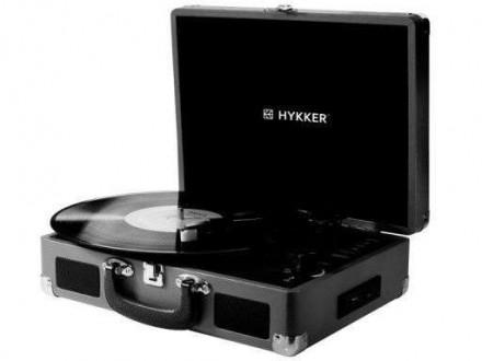 Програвач вінілових дисків HYKKER Vintage Sound. Товар в наявності. Тернополь. фото 1